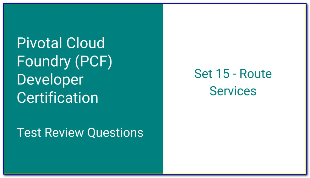 Pivotal Cloud Foundry Certification Books