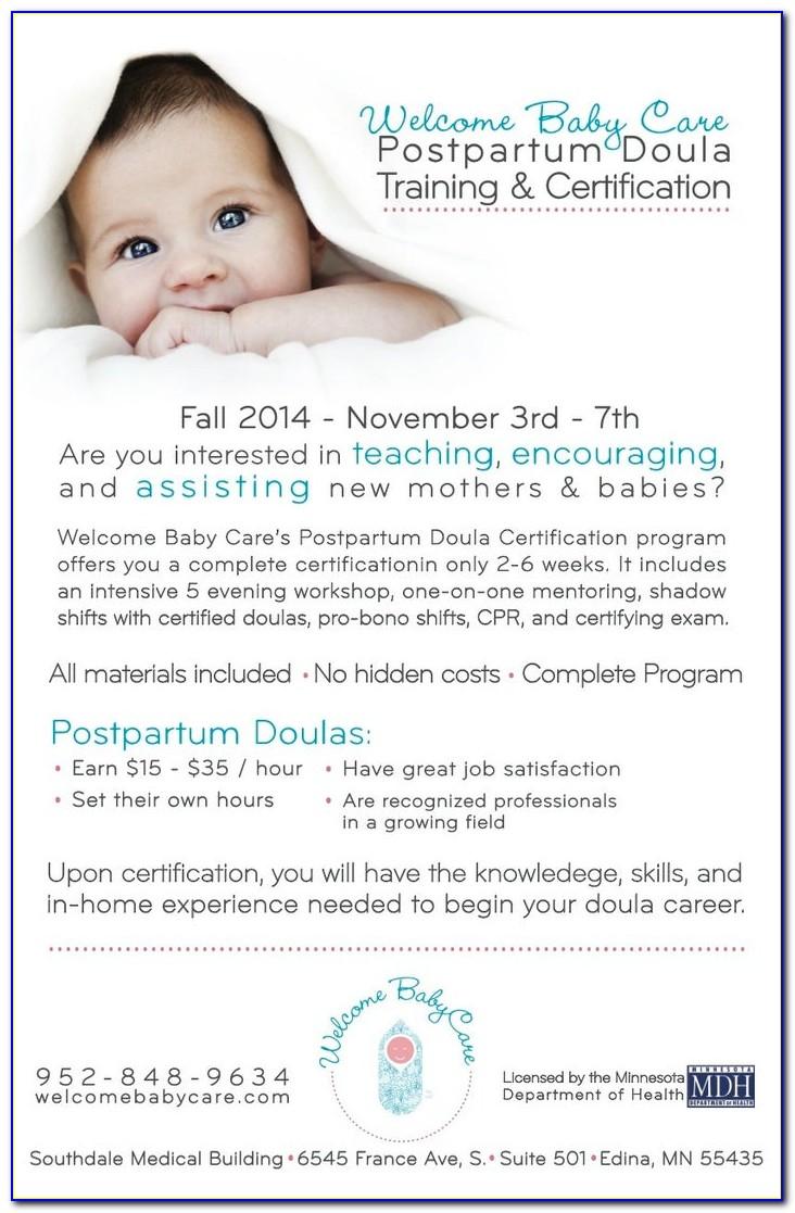 Postpartum Doula Certification Online