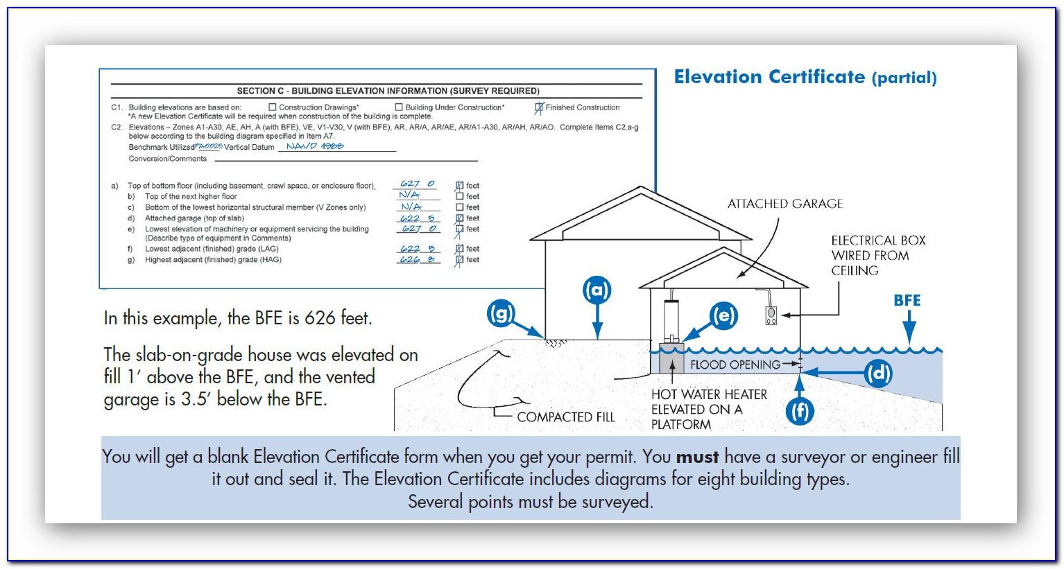 Purpose Of Nfip Elevation Certificate