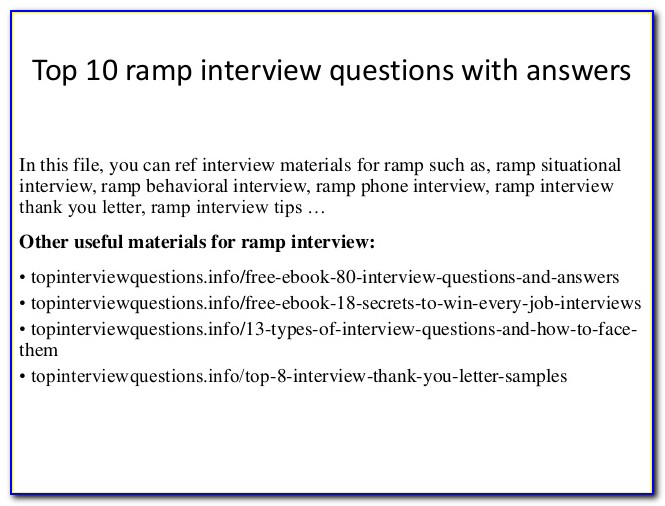 Ramp Certification Final Exam Ramp Test Answers
