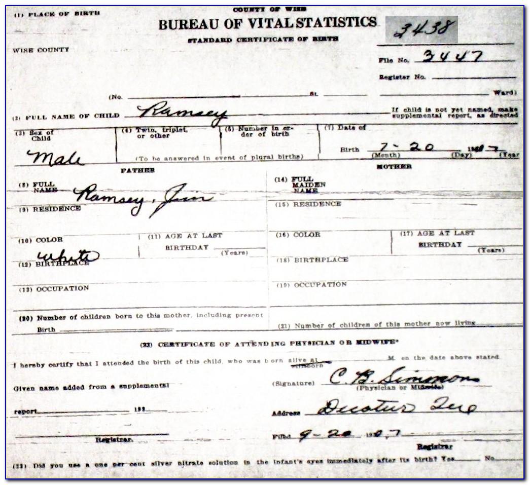 Ramsey County Birth Record Application