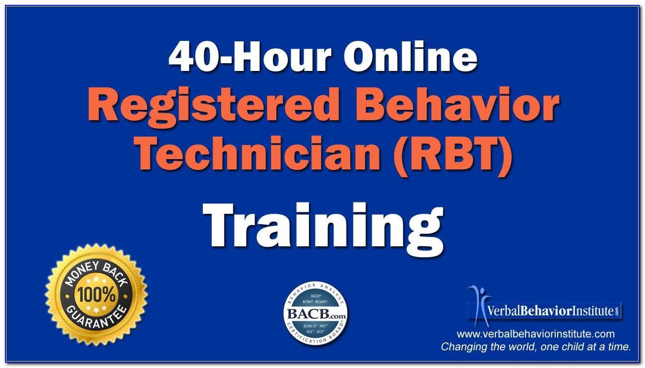 Rbt Certification Online Free