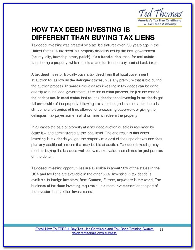 Real Estate Tax Lien Certificates Investing