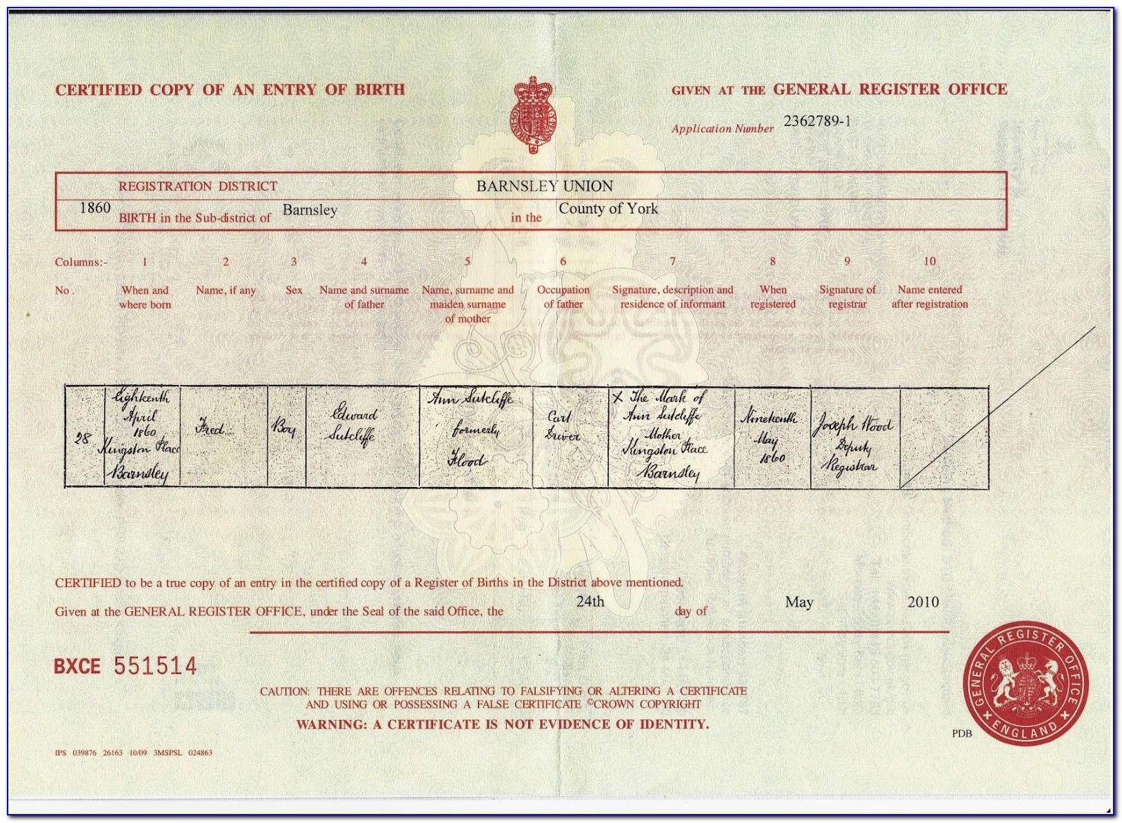 Reorder Birth Certificate Ohio