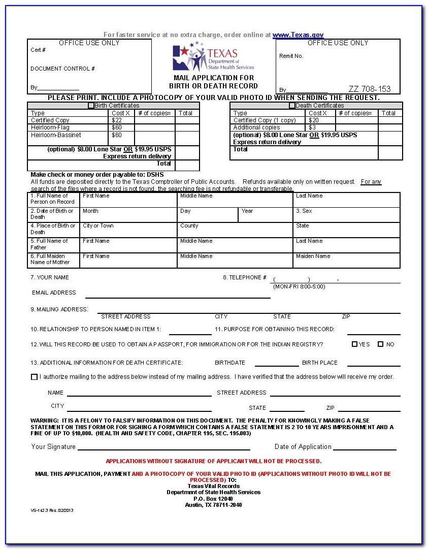 Reorder Birth Certificate Qld