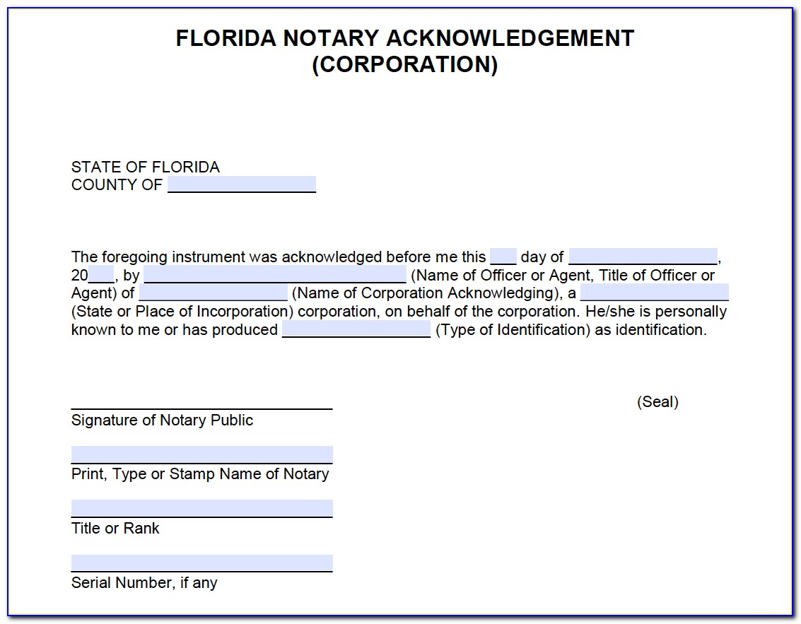Replacement Notary Certificate Florida