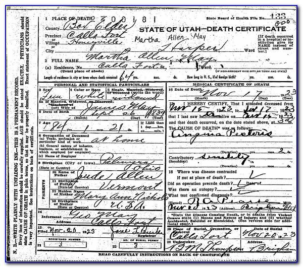 Request Birth Certificate Utah County