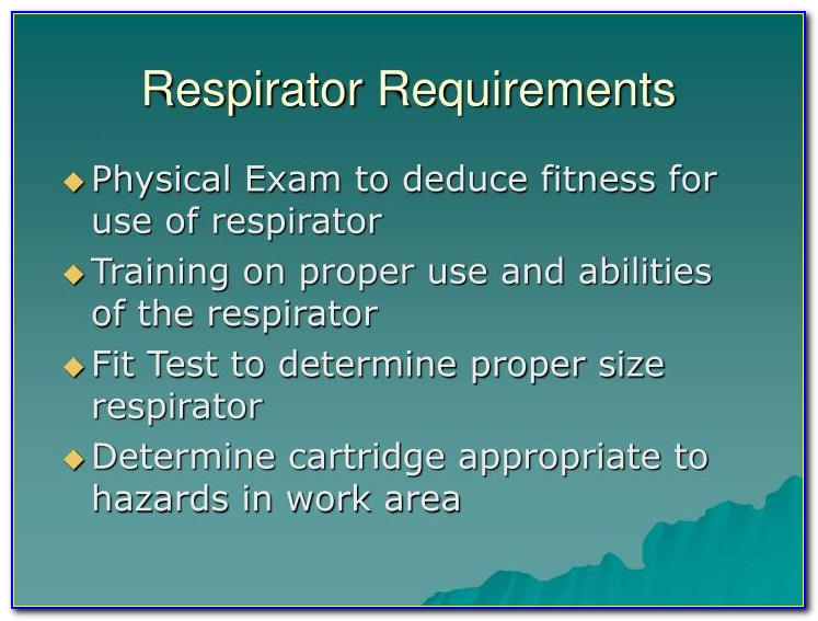 Respirator Fit Testing Certification Alberta