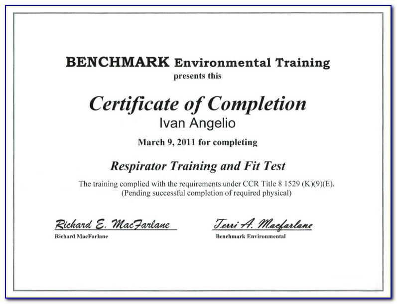 Respirator Fit Testing Certification Online