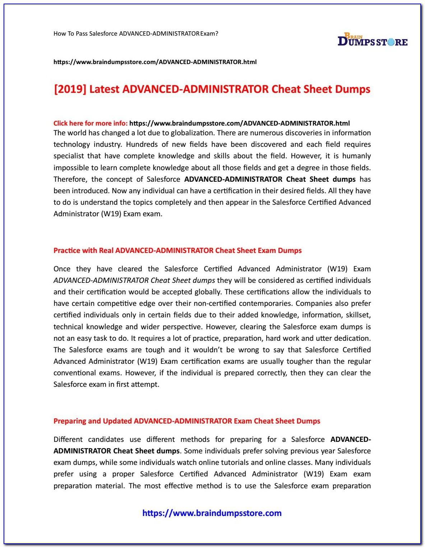Salesforce Admin Certification Dumps 2018 Pdf Free