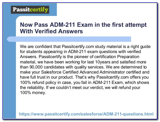 Salesforce Admin Certification Dumps Quizlet