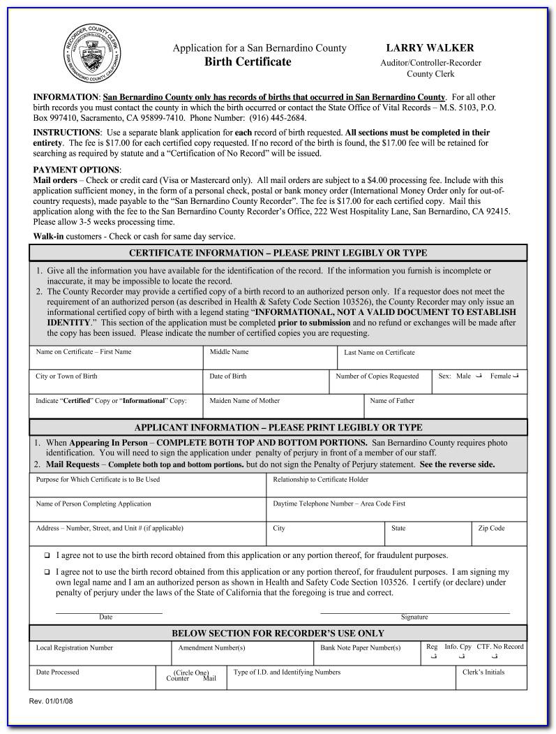 San Bernardino County Birth Certificate Office Hours