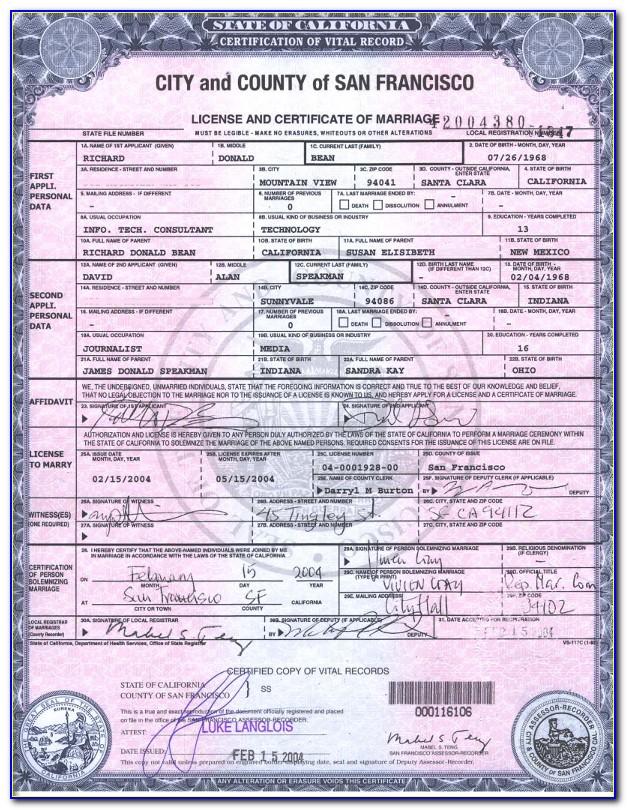 Santa Clara County Marriage Records Database