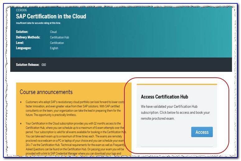 Sap Certification Hub Cloud