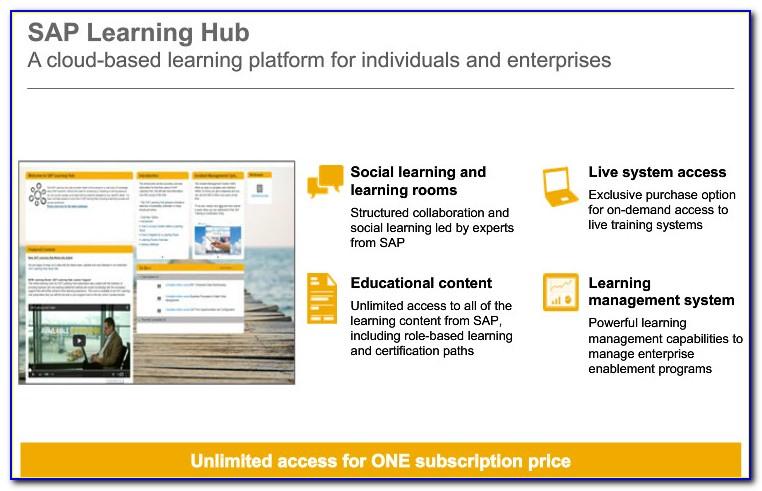 Sap Certification Hub Subscription