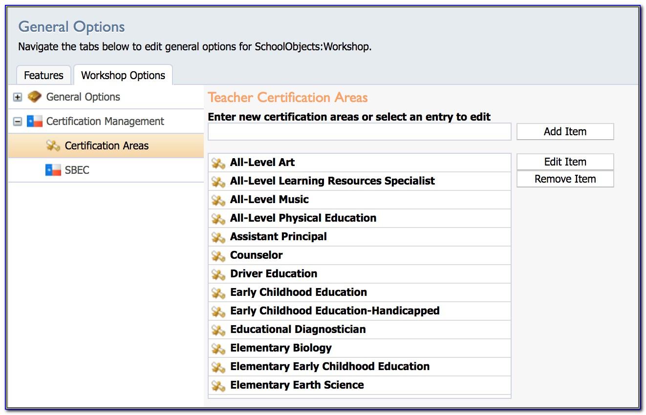 Sbec Teacher Certification Lookup