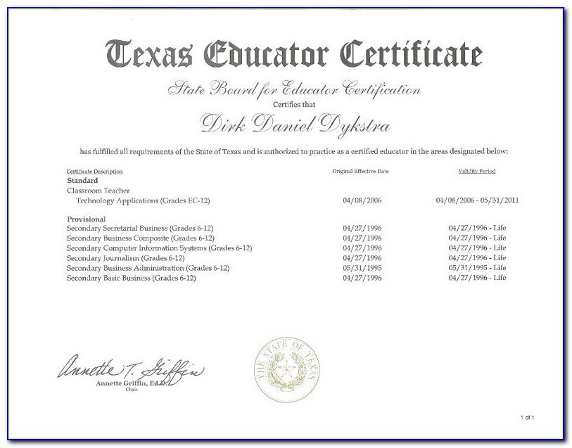 Sbec Teaching Certificate Lookup