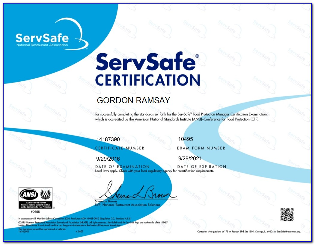 Servsafe Food Protection Manager Certification Answers