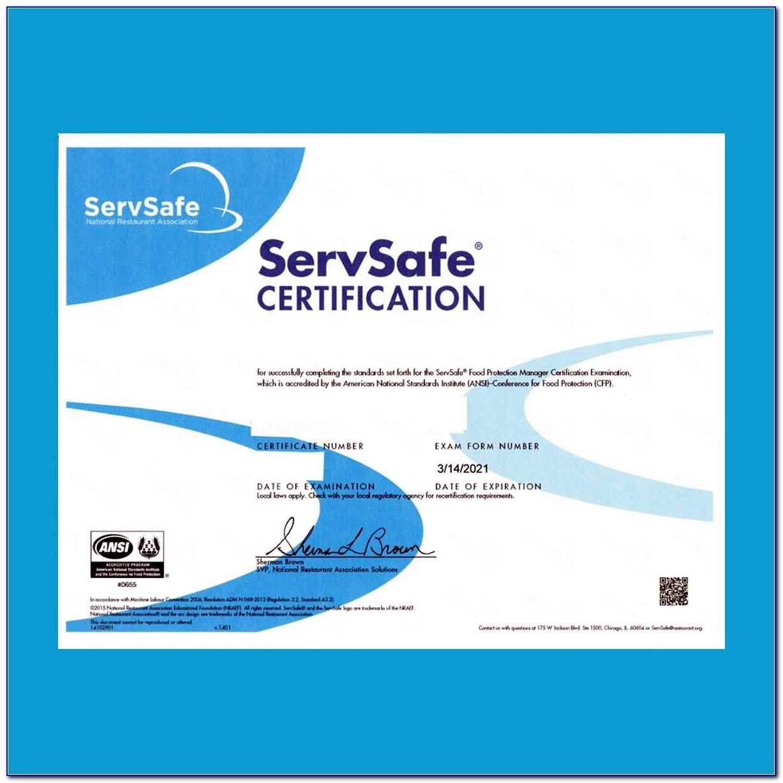 Servsafe Food Protection Manager Certification Cost