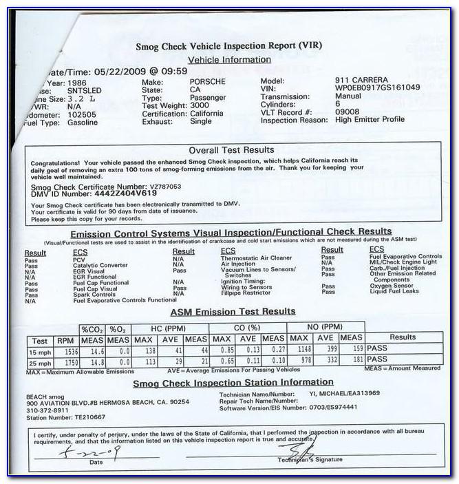 Smog Check Certificate Near Me