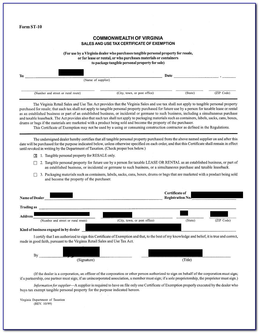 South Carolina Sales Tax Exemption Certificate Form