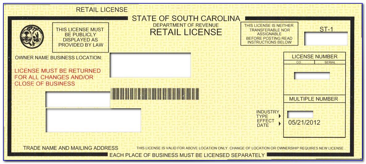South Carolina Sales Tax Exemption Certificate St 9