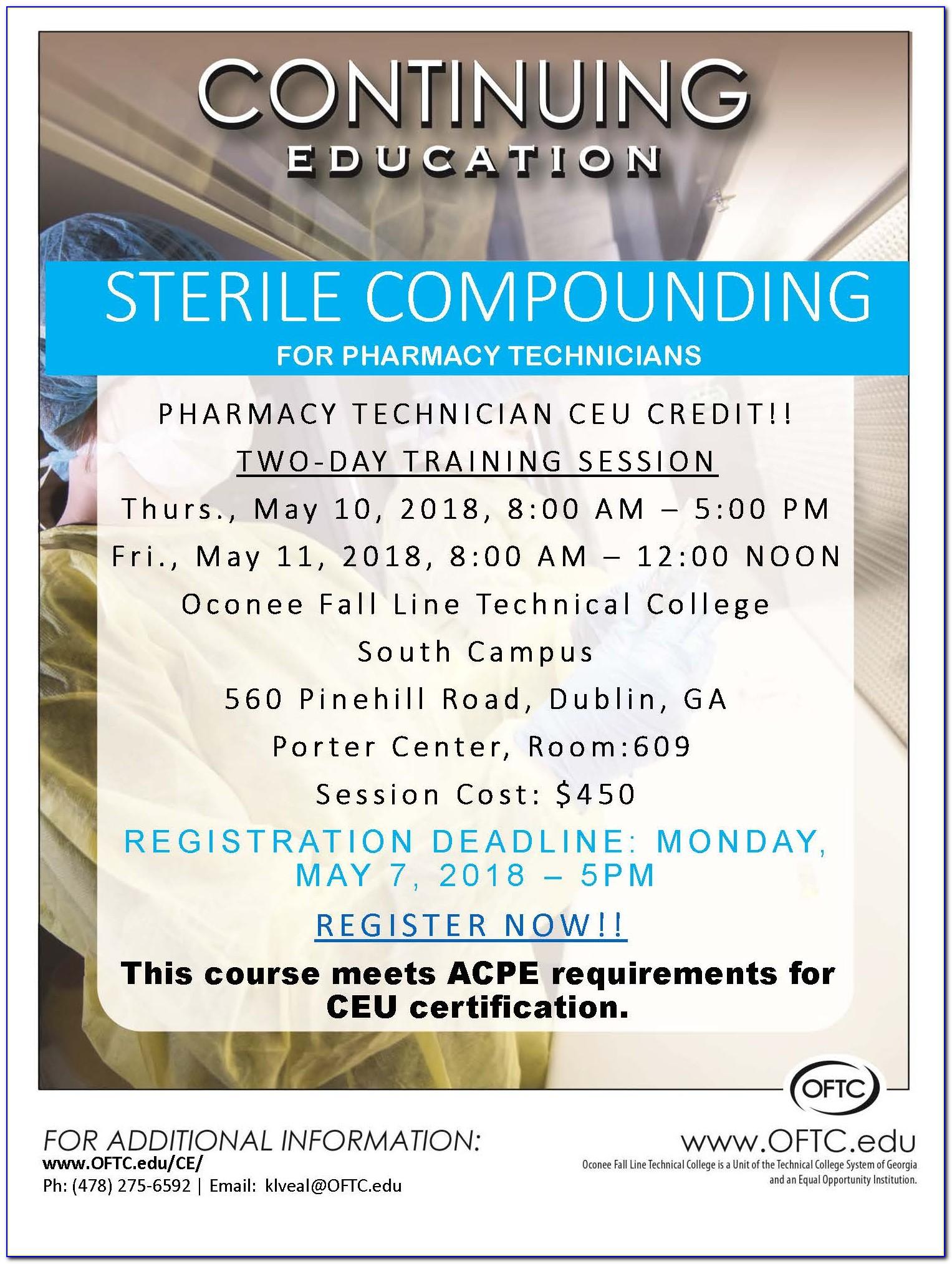 Sterile Compounding Certification Dallas