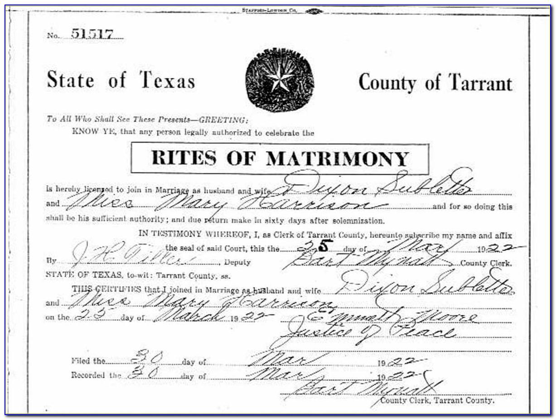 Tarrant County Death Records Database