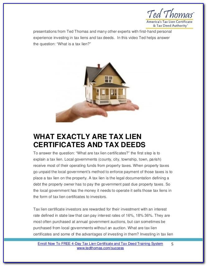 Tax Lien Certificate Investing Pdf