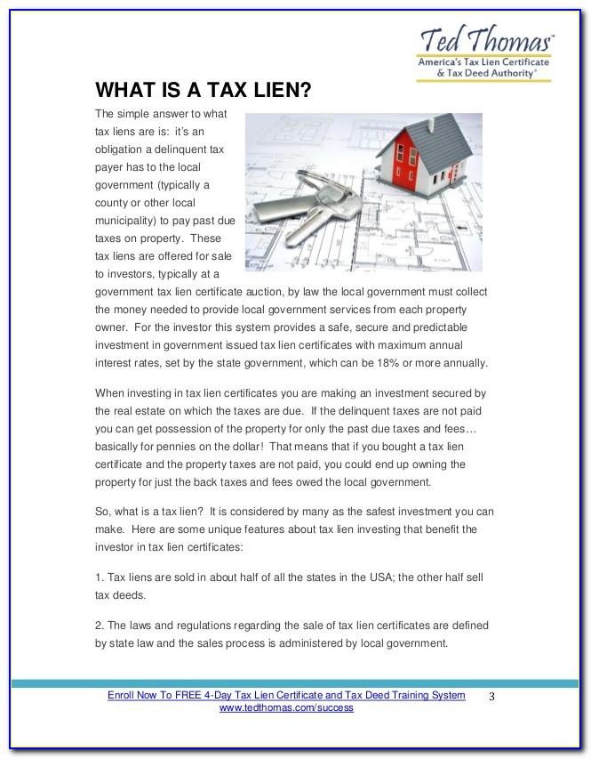 Tax Lien Certificates Florida Rules