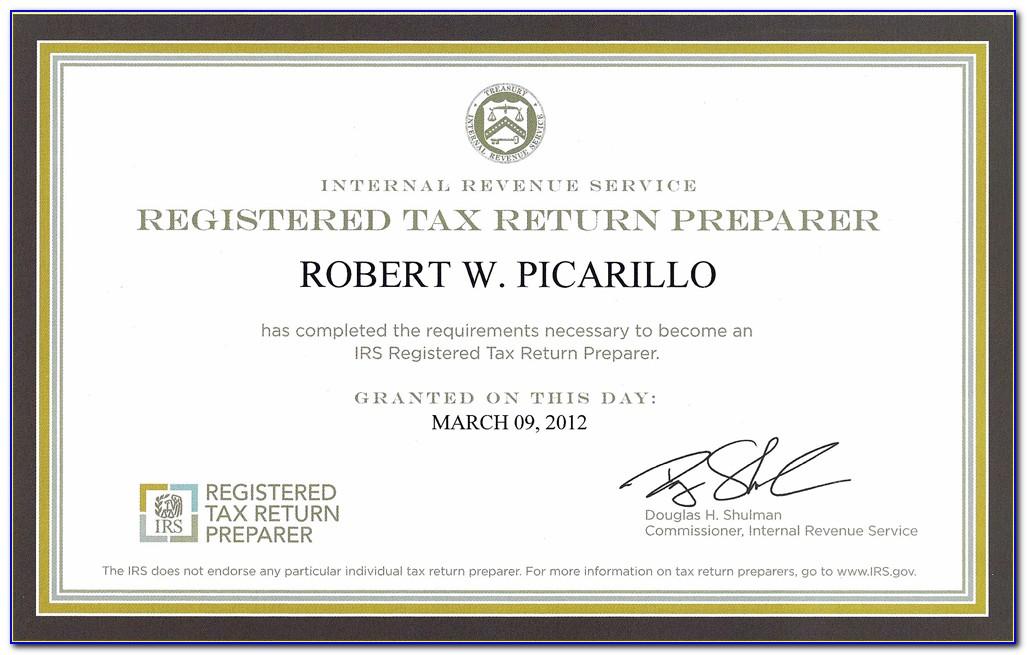 Tax Preparer Certification Test
