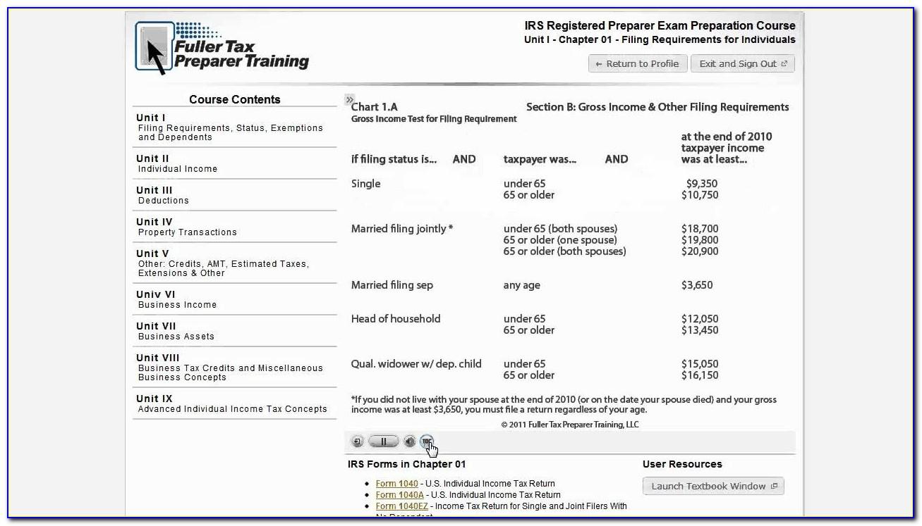 Tax Preparer Test Requirements