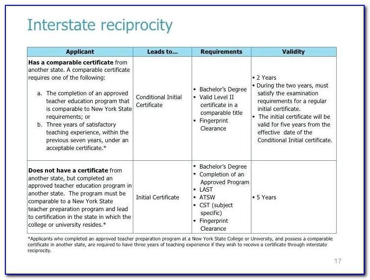 Teaching Certificate Reciprocity California
