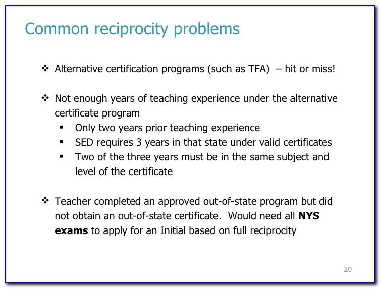 Teaching Certificate Reciprocity Washington