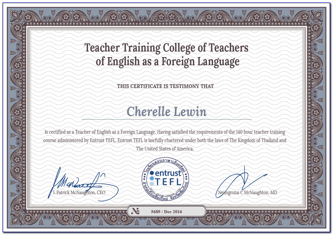 Tefl Certification Programs Free