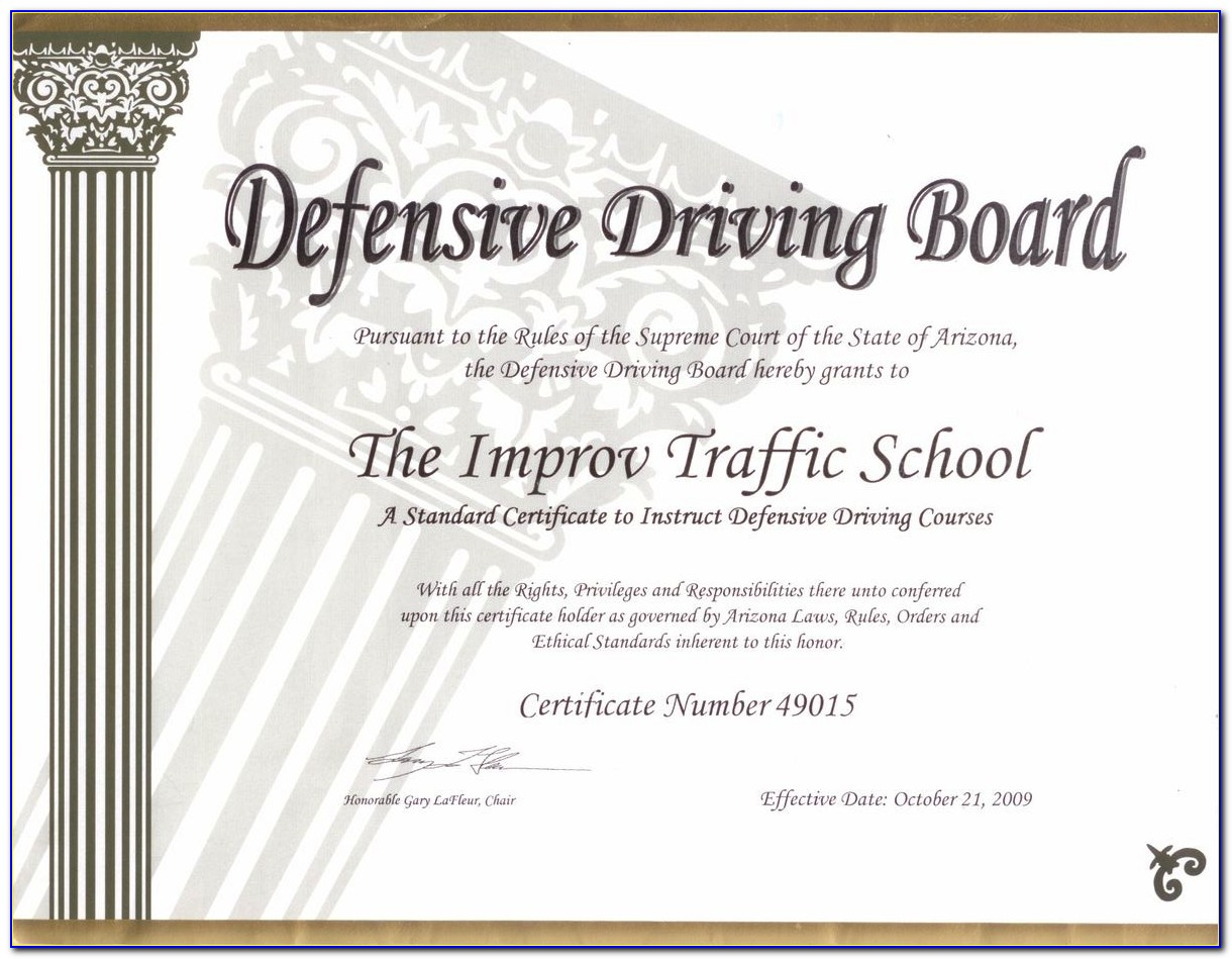 Texas Approved Defensive Driving Course Print Certificate Online