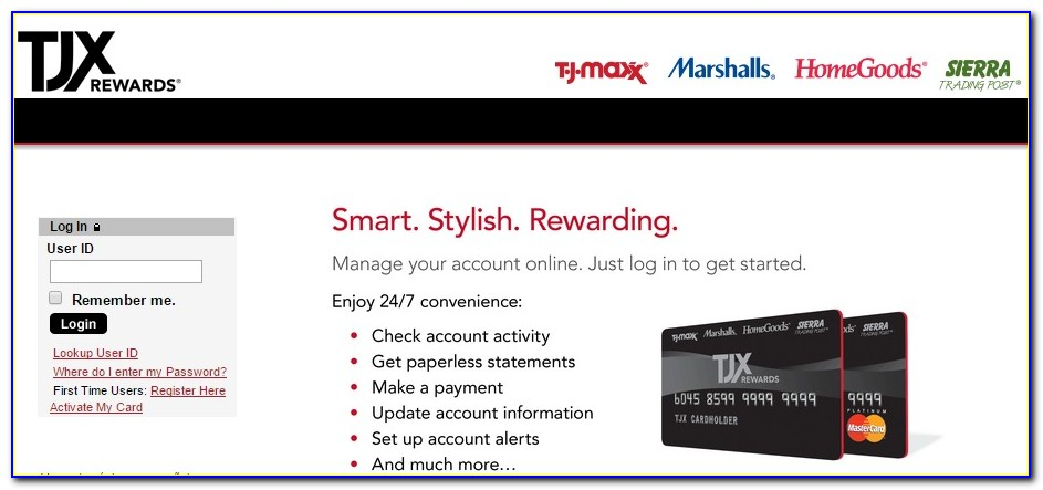 Tj Maxx Rewards Certificate Online