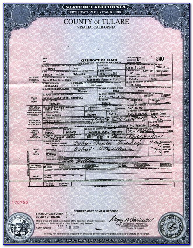 Tulare County Birth Certificate Phone Number