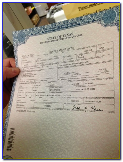 Tulare County Courthouse Birth Certificate