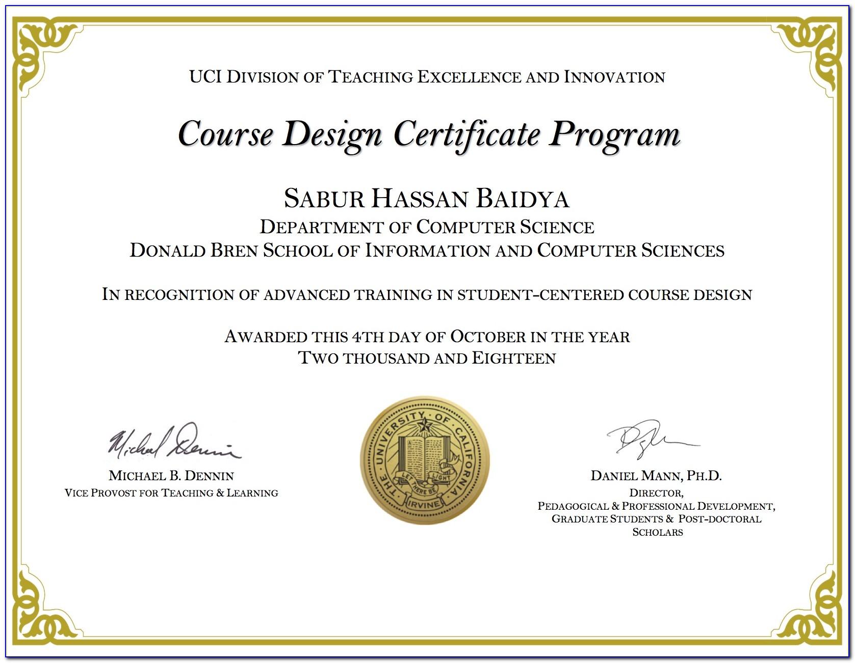 Uci Certificate Programs Online