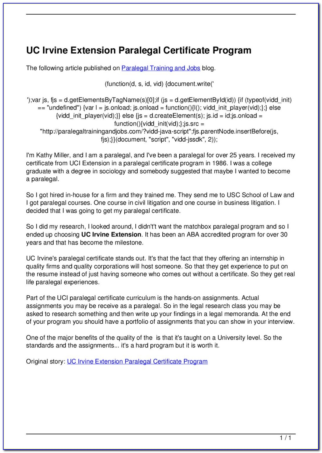 Uci Extension Certificate Programs
