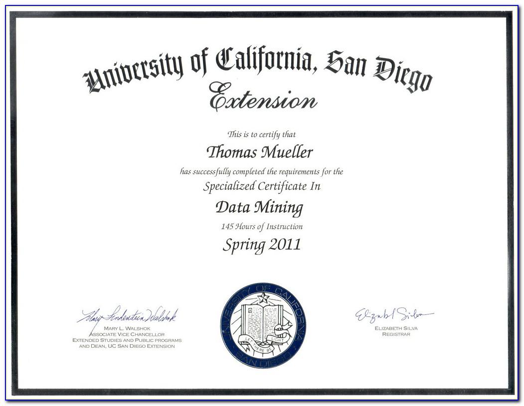 Ucsd Certificate Program Fundraising