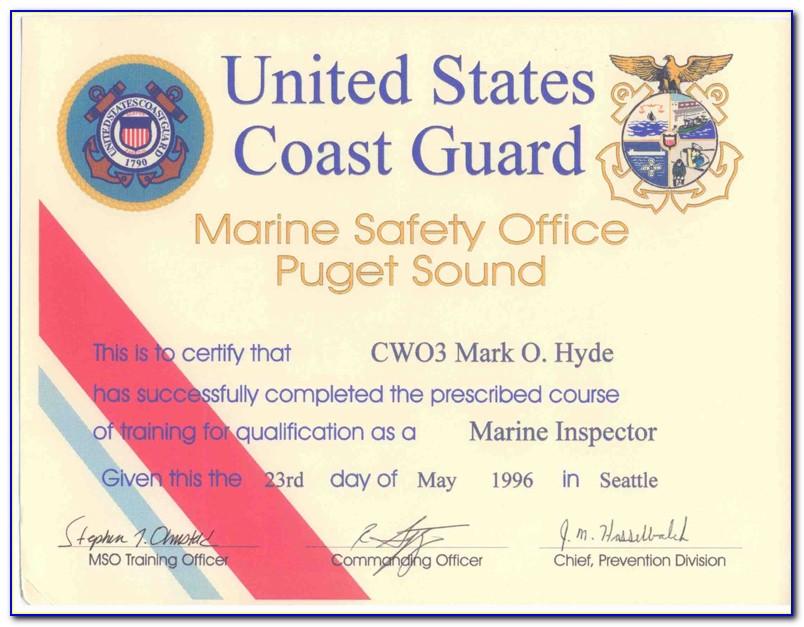 Uscg Medical Certificate Form