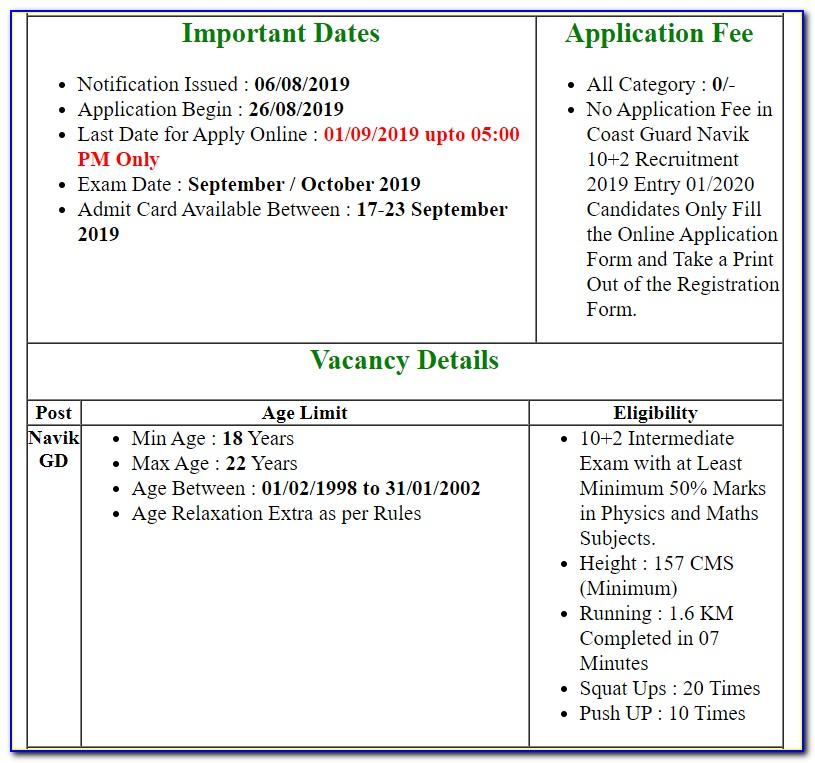 Uscg Medical Certificate Requirements