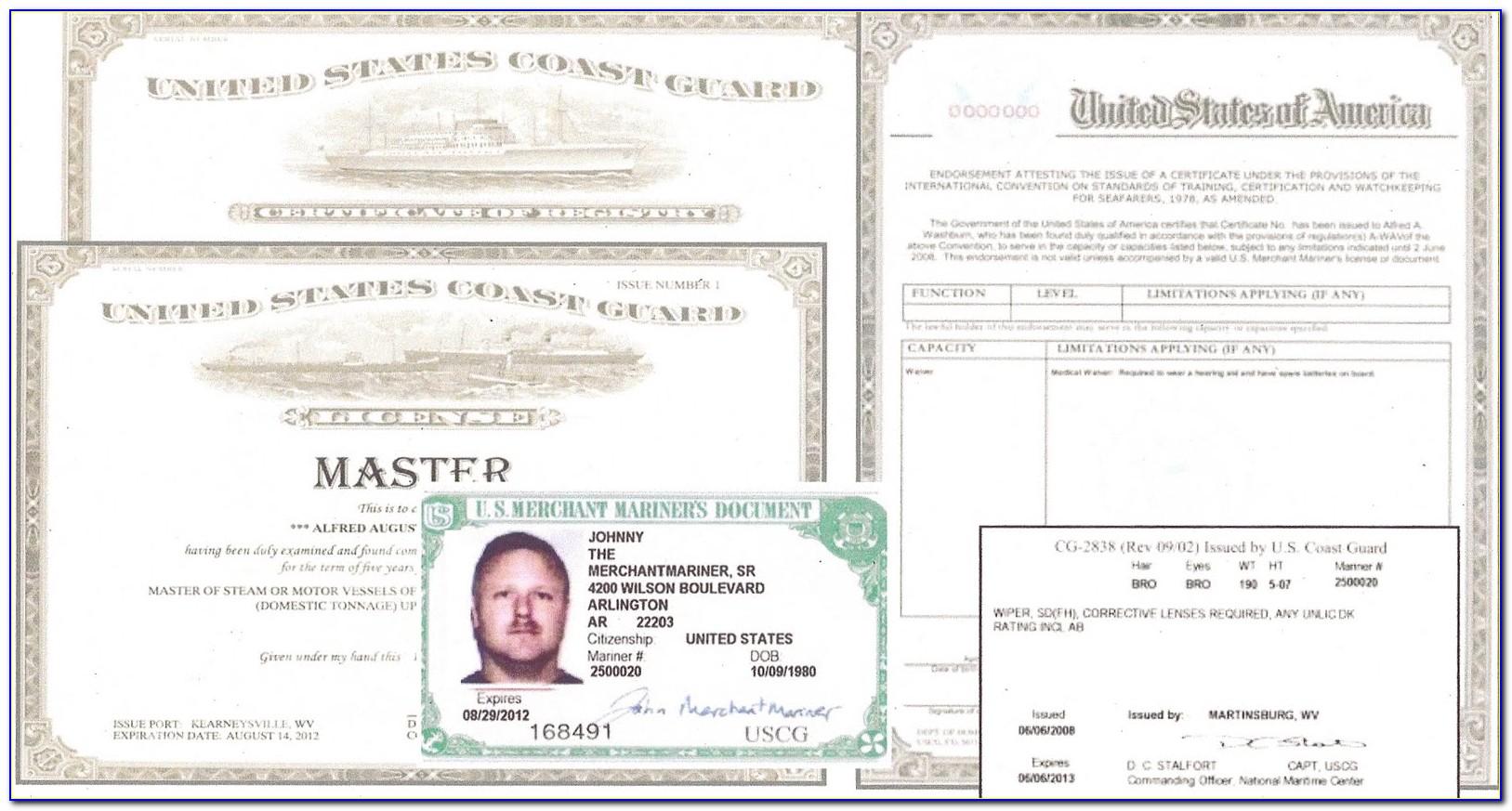 Uscg Medical Certificate Status