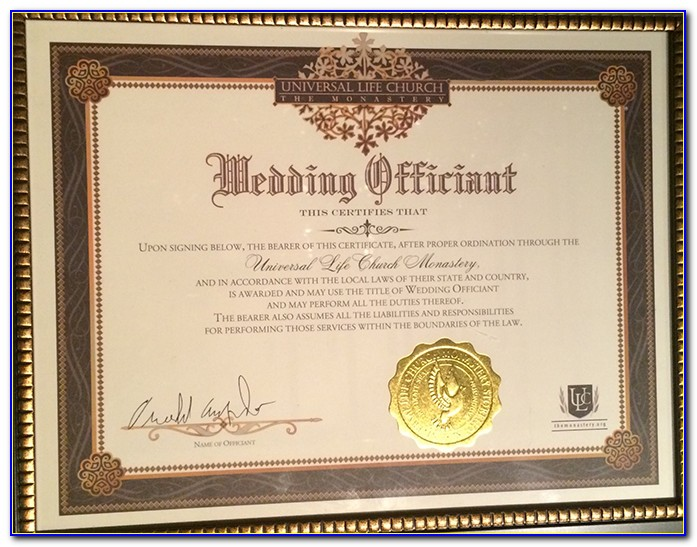 Wedding Officiant Certification Canada