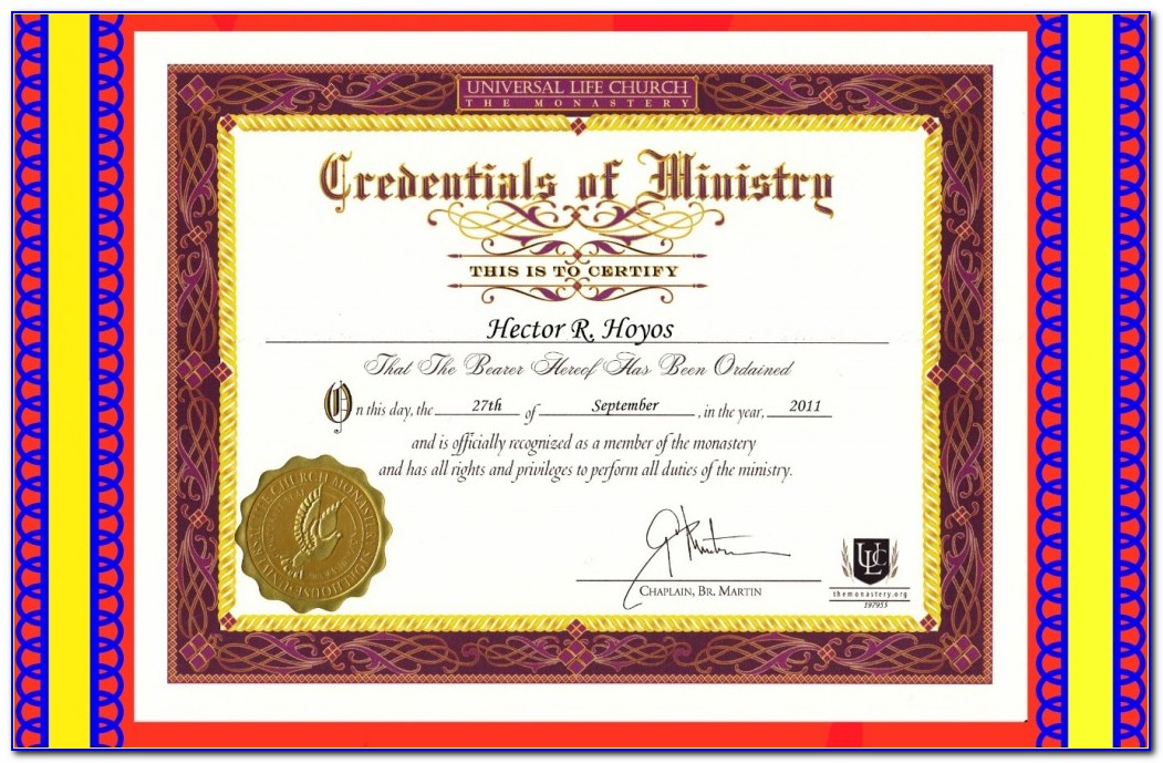 Wedding Officiant Requirements