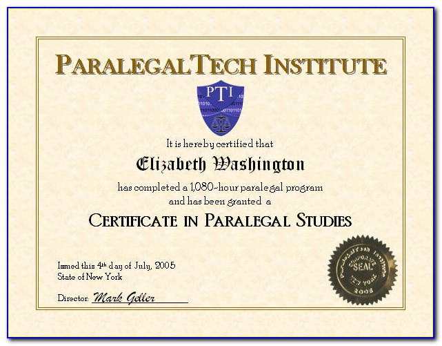 What Is Paralegal Certificate Program