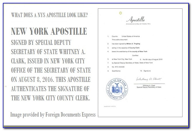 Where Can I Apostille A Birth Certificate In New York