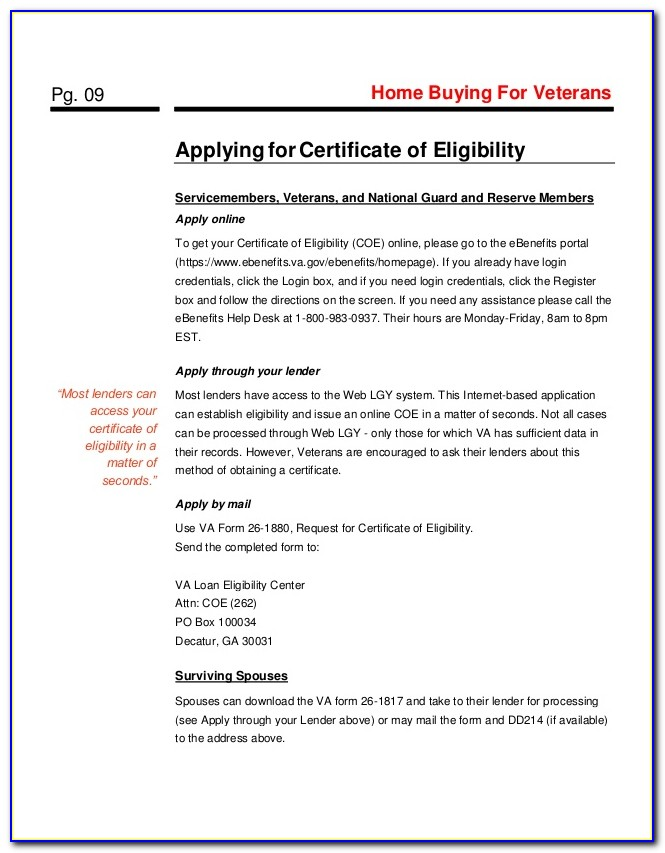 Where Do I Find My Ebenefits Certificate Of Eligibility